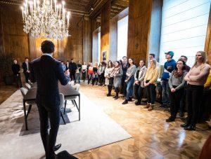 BK Kurz begrüßt Schülerinnen & Schüler des Gymnasium Hollabrunn im BKA, Wien, 14.01.2019, Fotos: Arno Melicharek