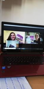 Online lernen macht mit Freunden noch viel mehr Spaß!☺ (Emilie und Livia, 4A)